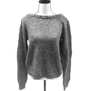 Grey Sezane Mohair Boatneck Sweater